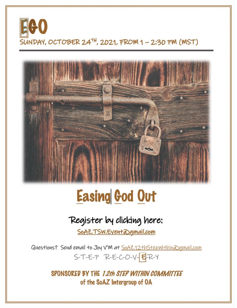 TSW Workshop on EGO: Easing God Out